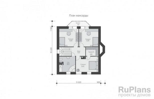 Дом 10,22 x 10,22